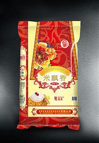 米飘香大米袋子设计
