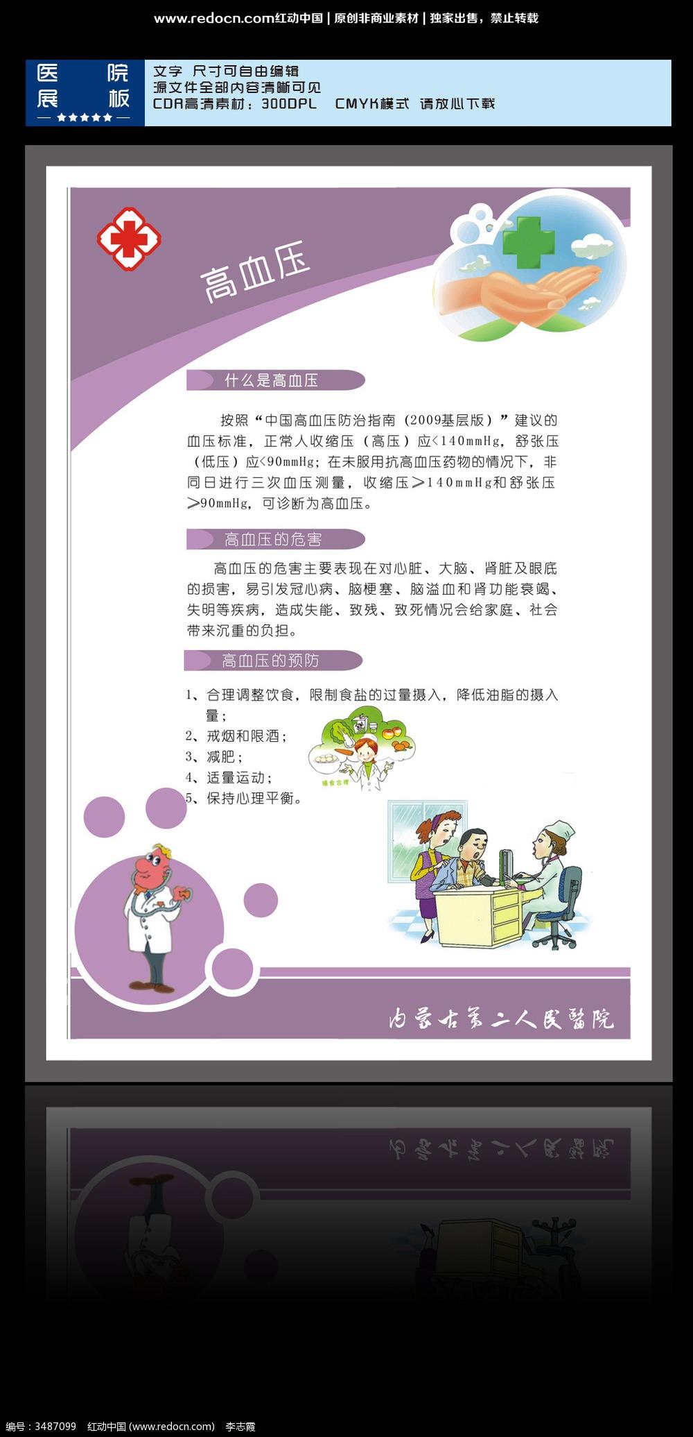 12款 社区健康教育宣传展板设计