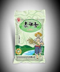 长粒香大米包装袋图