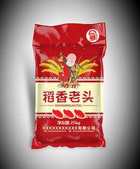 稻香老头大米包装袋图