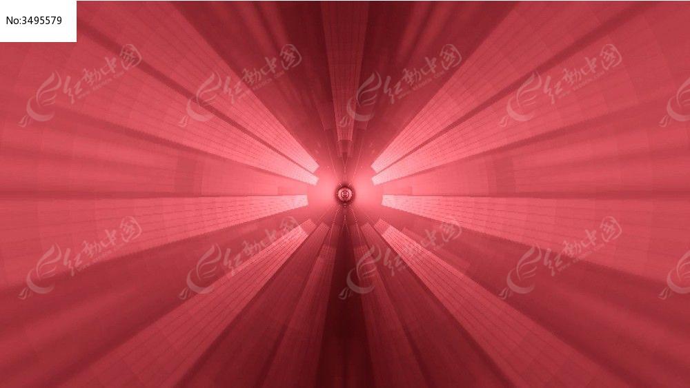 视频_红色收缩放射线视频背景
