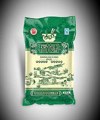 绿色包装稻花香米袋设计