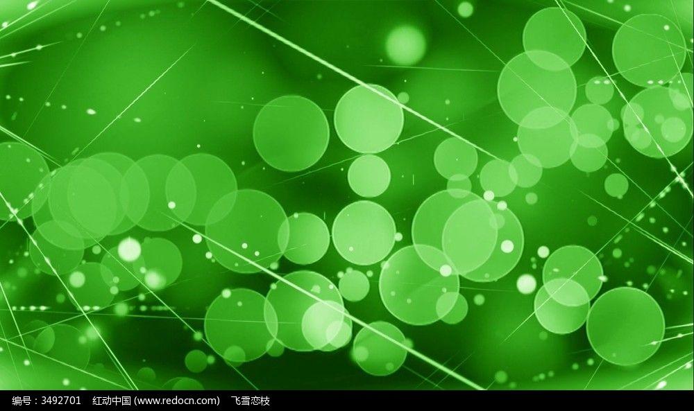 绿色梦幻线条及圆圈粒子浮动视频背景图片