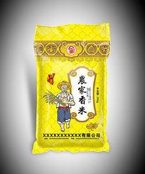 农家香米包装袋子 AI