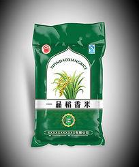 一品稻香米包装袋设计