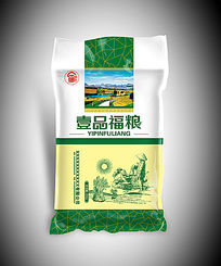 壹品福粮大米包装袋图