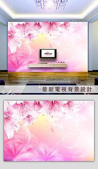 10款 梦幻花朵粉色背景墙