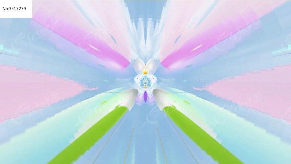 彩色可爱图案背景视频素材