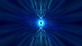 蓝色超级玄幻放射光点背景素材视频