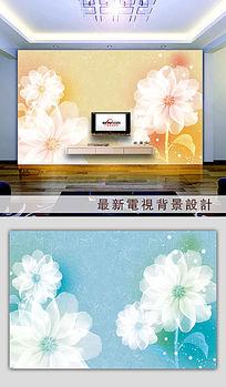 温馨花朵背景墙壁画