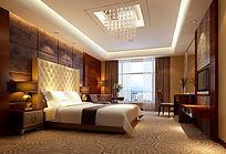 宾馆套间卧室3d模型