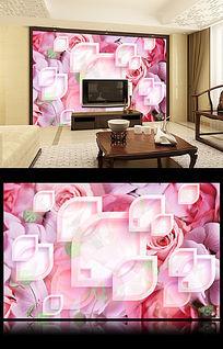 13款 花朵电视客厅电视背景墙