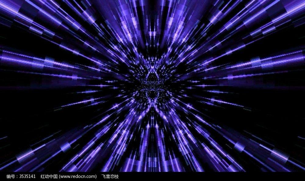 视频_蓝色穿梭之星光隧道视频背景素材