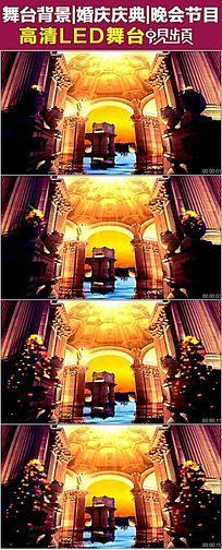 欧式宫殿天鹅湖之美婚庆视频片头