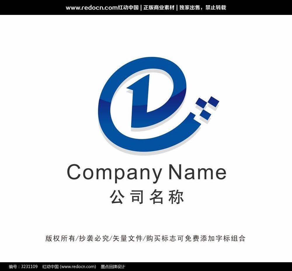 字母d变形logo设计图片