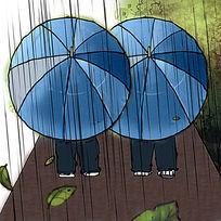 爱心伞漫画