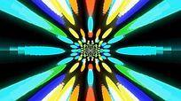 极致之五彩斑斓放射万花筒视频素材