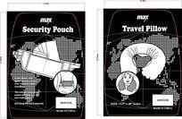 头枕和腰包纸卡包装设计