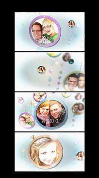 浪漫婚庆照片展示AE模板
