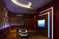 KTV小包间3D模型渲染效果图