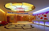 KTV一楼大厅3D模型效果图