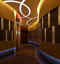 KTV走廊3D模型效果图