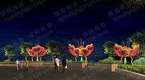 花坛锦簇景观照明设计小品