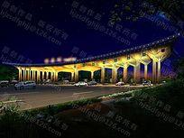 收费站夜景照明设计侧视点