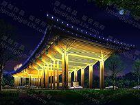 收费站夜景照明设计局部视点