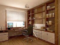 书房3d模型设计