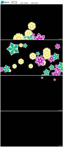 动态花卉前景遮罩高清视频素材