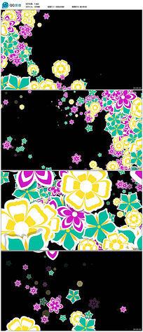 动态鲜花前景遮罩划过高清视频素材