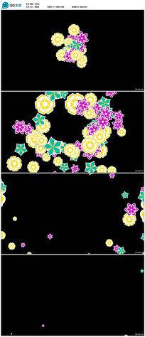 粒子花卉花遮罩高清视频