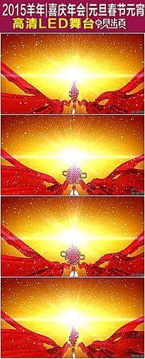 大红绸中国结节日视频背景