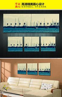 海洋图案无框画