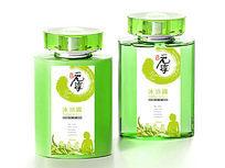 绿色沐浴露瓶贴素材