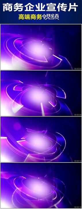 紫色虚拟半环商业背景循环视频背景素材图片
