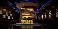 酒吧室内3D模型效果图