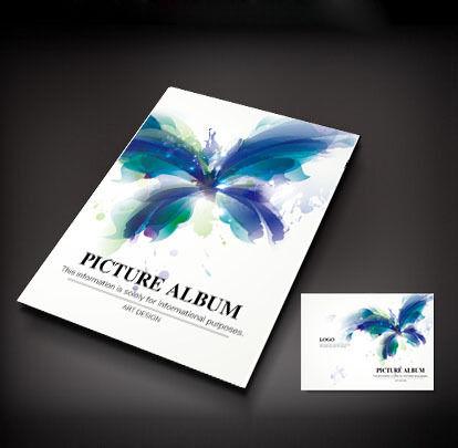 蓝色蝴蝶创意封面设计