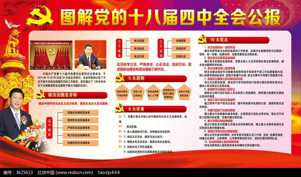 党的十八届四中全会公报展板 企业/学校/党建