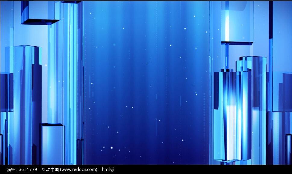 蓝色玻璃视频素材_视频素材\/片头片尾\/AE模板图片素材