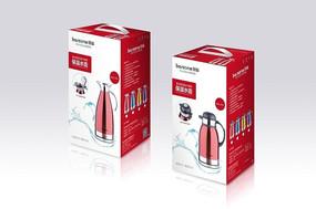 红色不锈钢电热水壶包装