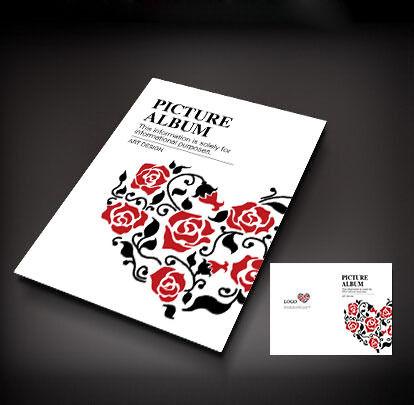 红色玫瑰爱心封面设计