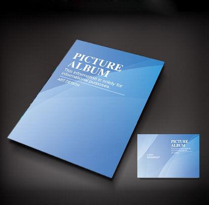 蓝色简洁封面设计图片
