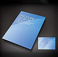 蓝色简洁封面设计