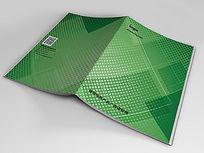 绿色环保科技画册封面PSD