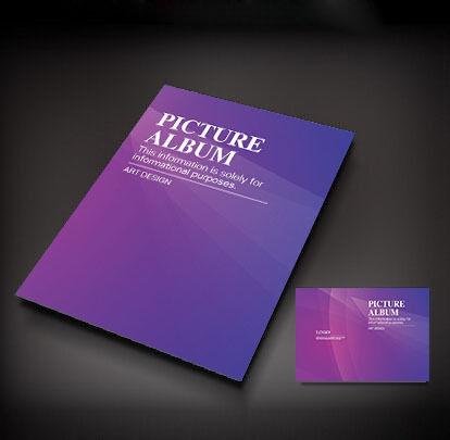 紫色简洁封面设计图片