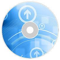 蓝色科技IT数码光盘设计psd