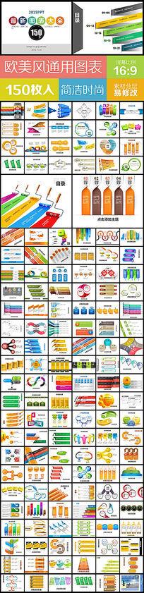 150最新创意PPT图表流程图集锦