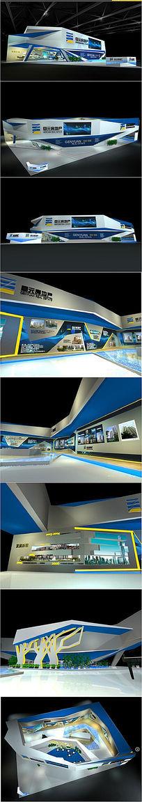 房展展台模型3d